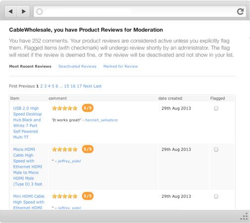 product reviews management