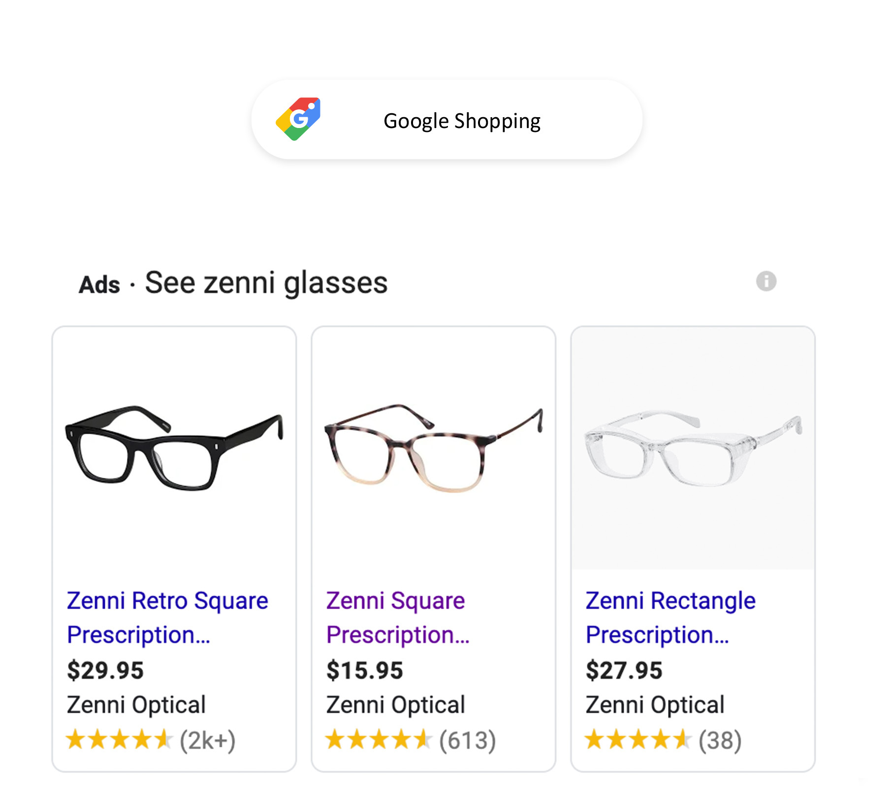 google shopping star ratings